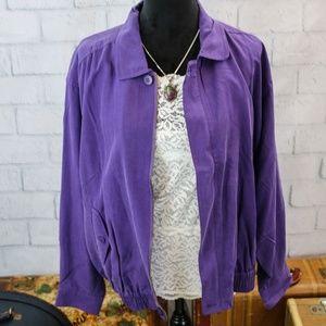 Selene Sport Silk Bomber Style Jacket